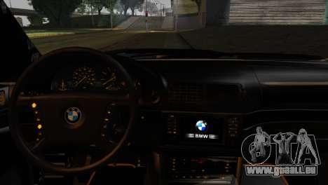 BMW M5 E39 Camouflage für GTA San Andreas zurück linke Ansicht