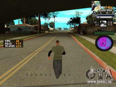 C-HUD. Avec. Et. pour GTA San Andreas troisième écran