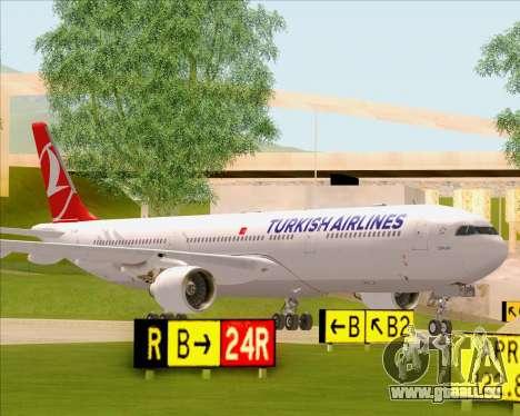 Airbus A330-300 Turkish Airlines pour GTA San Andreas vue de côté