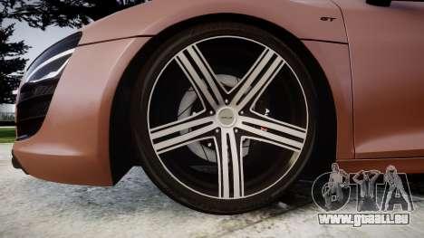 Audi R8 plus 2013 Wald rims für GTA 4 Rückansicht