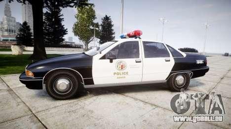 Chevrolet Caprice 1991 LAPD [ELS] Patrol für GTA 4 linke Ansicht