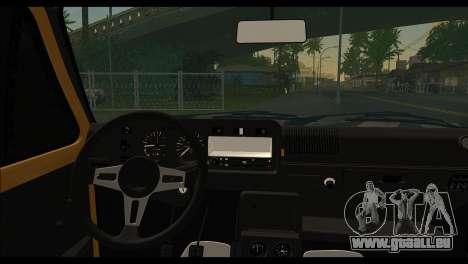 Volkswagen Golf Mk1 pour GTA San Andreas sur la vue arrière gauche