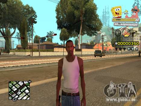 C-HUD Sponge Bob pour GTA San Andreas sixième écran