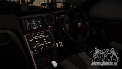 Nissan GTR-R35 für GTA San Andreas zurück linke Ansicht