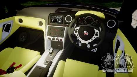 Nissan GT-R R35 2012 Sharpie pour GTA 4 est une vue de l'intérieur