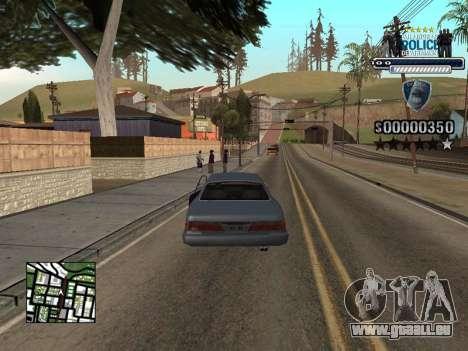 Police HUD pour GTA San Andreas troisième écran