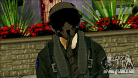 USA Jet Pilot from Battlefield 4 pour GTA San Andreas troisième écran