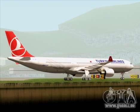 Airbus A330-300 Turkish Airlines für GTA San Andreas Unteransicht