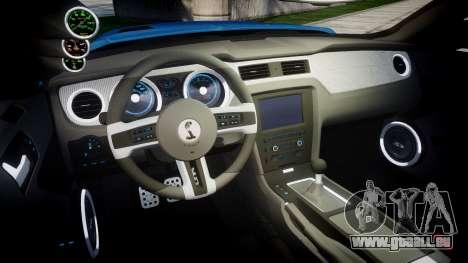 Ford Mustang Shelby GT500 2013 pour GTA 4 est une vue de l'intérieur