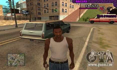 Ballas C-HUD pour GTA San Andreas troisième écran