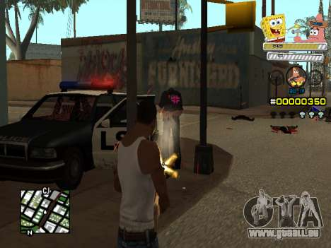 C-HUD Sponge Bob pour GTA San Andreas quatrième écran