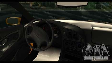 Mitsubishi Eclipce 1999 pour GTA San Andreas sur la vue arrière gauche