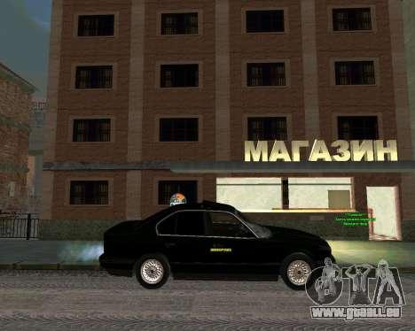 BMW 535i Stock pour GTA San Andreas sur la vue arrière gauche