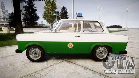 Trabant 601 deluxe 1981 Police für GTA 4 linke Ansicht