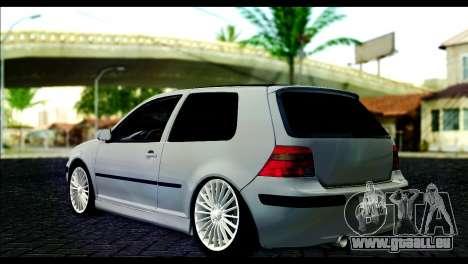 Volkswagen Golf Mk4 pour GTA San Andreas laissé vue