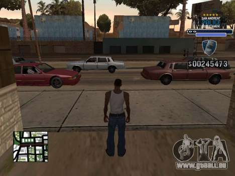 Police HUD für GTA San Andreas