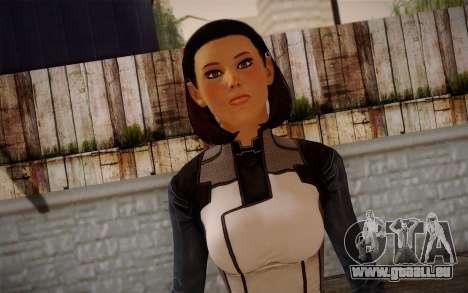 Dr. Eva Core New face from Mass Effect 3 für GTA San Andreas dritten Screenshot