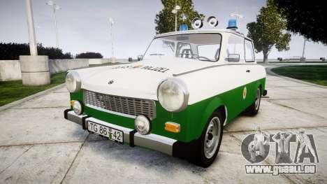 Trabant 601 deluxe 1981 Police für GTA 4