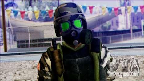 Hecu Soldier 2 from Half-Life 2 pour GTA San Andreas troisième écran