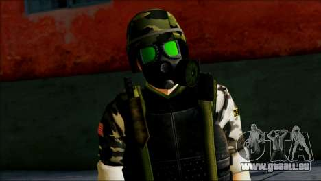 Hecu Soldier 1 from Half-Life 2 für GTA San Andreas dritten Screenshot