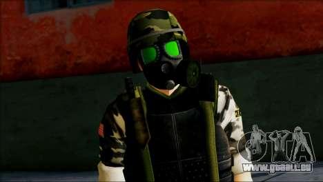 Hecu Soldier 1 from Half-Life 2 pour GTA San Andreas troisième écran