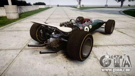 Lotus Type 49 1967 [RIV] PJ1-2 pour GTA 4 Vue arrière de la gauche
