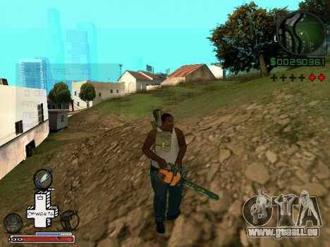 C-HUD Optiwka pour GTA San Andreas cinquième écran
