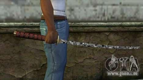 Nouveau Katana pour GTA San Andreas troisième écran