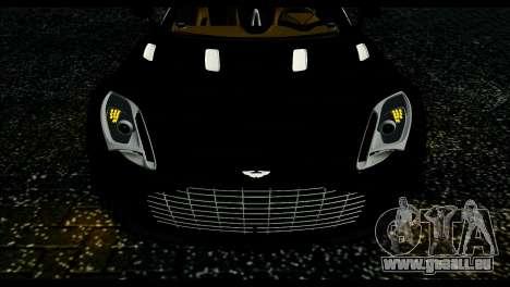 Aston Martin One-77 Beige Black für GTA San Andreas zurück linke Ansicht