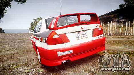 Mitsubishi Lancer Evolution VI Rally Edition für GTA 4 hinten links Ansicht