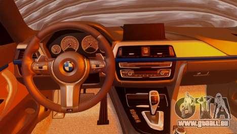 BMW 435i für GTA San Andreas zurück linke Ansicht
