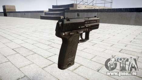 Pistole HK USP 40 für GTA 4 Sekunden Bildschirm