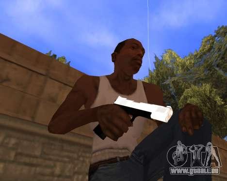 White Chrome Gun Pack pour GTA San Andreas quatrième écran