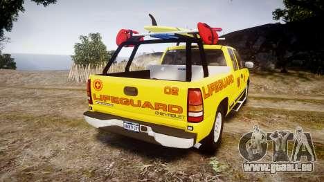 Chevrolet Silverado Lifeguard Beach [ELS] für GTA 4 hinten links Ansicht