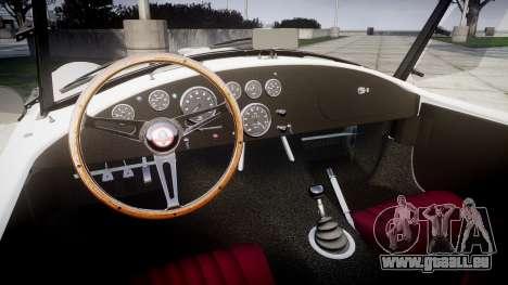 AC Cobra 427 PJ3 für GTA 4 Innenansicht