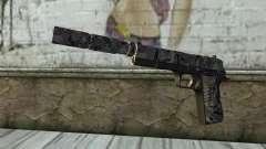 Neue Pistole mit einem Schalldämpfer