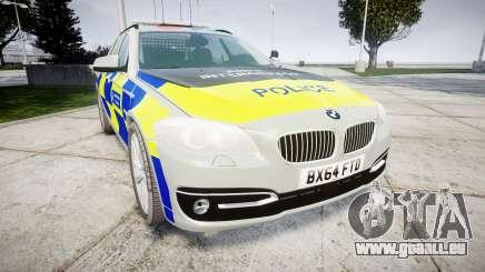 BMW 525d F11 2014 Police [ELS] pour GTA 4