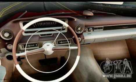 Cadillac Eldorado Biarritz Convertible 1959 pour GTA San Andreas sur la vue arrière gauche