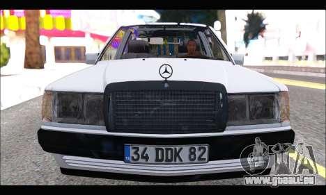 Mercedes Bad-Benz 190E (34 DDK 82) für GTA San Andreas linke Ansicht