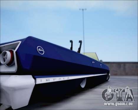 Chevrolet Impala 1963 für GTA San Andreas Rückansicht