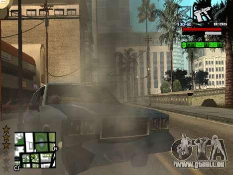 Nice C-HUD pour GTA San Andreas quatrième écran
