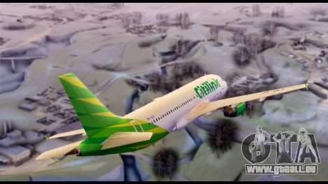 Citilink Airbus A320 PK-GLV für GTA San Andreas zurück linke Ansicht