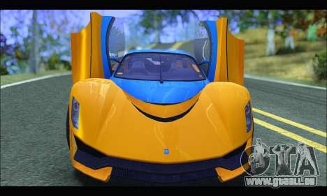 Grotti Turismo R v2 (GTA V) (IVF) für GTA San Andreas Rückansicht