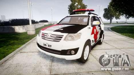 Toyota Hilux SW4 2015 Forca Tatica [ELS] pour GTA 4