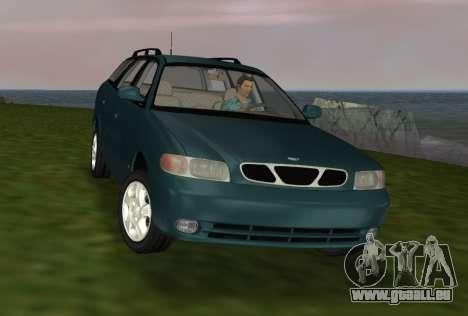 Daewoo Nubira I Wagon CDX US 1999 pour une vue GTA Vice City de l'intérieur