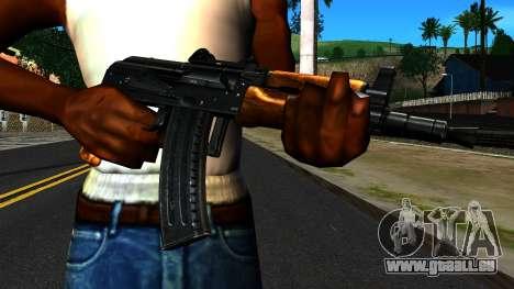 Lumineux AKS-74U v2 pour GTA San Andreas troisième écran