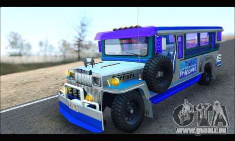 Light Jeepney für GTA San Andreas linke Ansicht