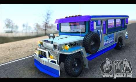 Light Jeepney pour GTA San Andreas laissé vue