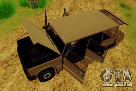 Huntley Army pour GTA San Andreas vue de droite