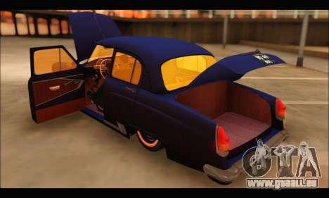 GAZ 21 Volga Resto pour GTA San Andreas vue arrière